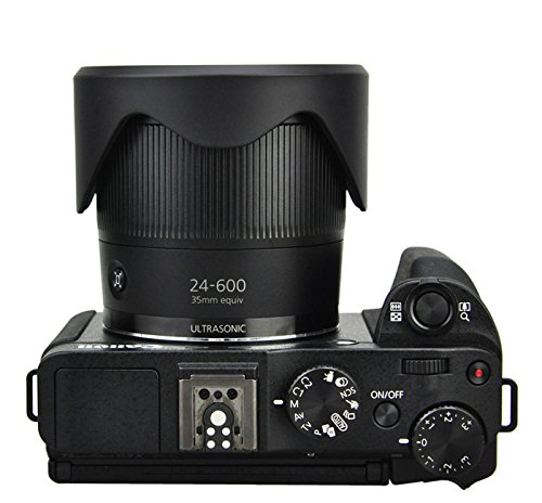 tambi/én compatible con SX60 /Parasol de objetivo para Canon PowerShot G3/X LH-DC100/y FA-DC67B adaptador SX30 SX21 SX530 SX20 GX3. SX50 Maxsimafoto/ SX40 SX520