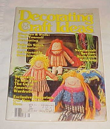 Decorating & Craft Ideas January/February 1981 (Vol. 12, No.1) Magazine (Stitch, Needlepoint) Craft -