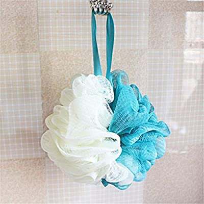 Soft Bathroom Scrubbing Tool Accessories Shower Sponge Pouf Mesh Ball Exfoliating Scrubber (one Size, Gray): Clothing