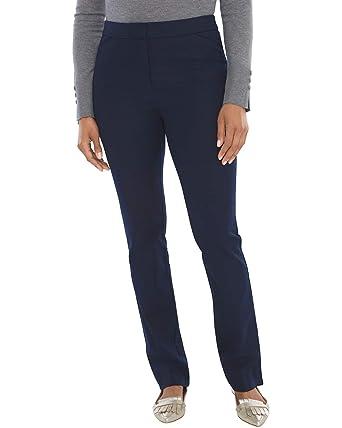 480cc35cbe4a Amazon.com  Chico s Women s Secret Stretch Waist Straight-Leg Pants   Clothing