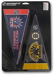 Rico Industries RICOHKYMP NHL Hockey Complete 30 Team 4x9 Mini Pennant Set