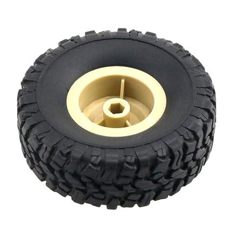 Biback JJRC Q60 Q61 Rueda de Coche de Juguete Neumático de Plástico Premium Off-Road