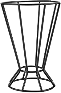 Plant Stand, Octagonal Tower Shaped Space Saving Plant Pot Holder of High Hardness Iron Wire for Home Decorations, Gardens(Black)