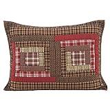 VHC Brands Rustic & Lodge Bedding-Tacoma Red Sham, Standard