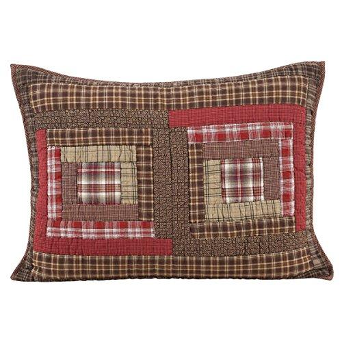 VHC Brands Rustic & Lodge Bedding - Tacoma Red Sham, Standard