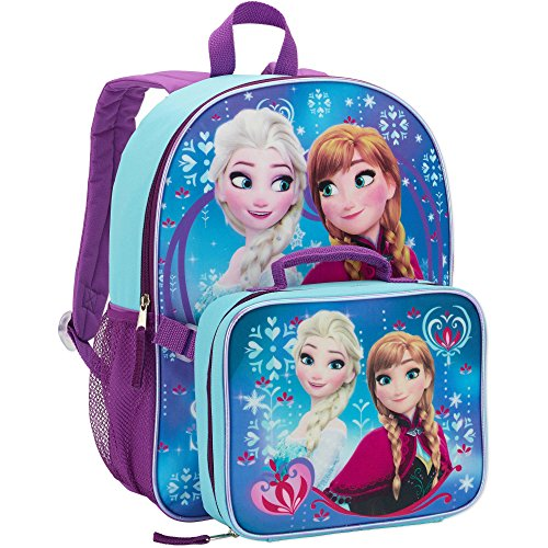 Frozen Elsa School Backpack Lunch Box Book Bag Combo SET