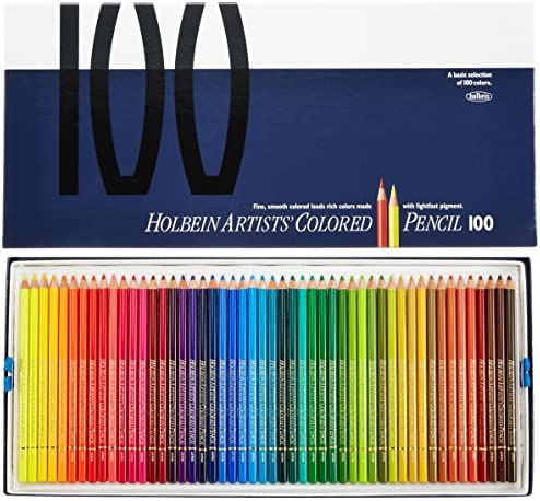 100 color paper box-set Holbein colored pencil (japan import)