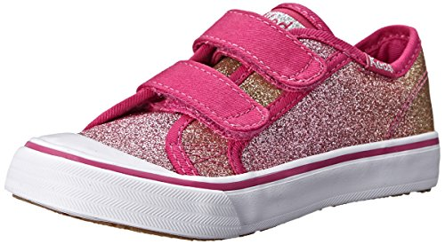 Keds Glittery Hook and Loop Sneaker (ToddlerLittle Kid) Pink Glitter 11 M US Little Kid
