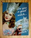 "Wizard of Oz Glinda ""Are You a Good Witch or a Bad Witch?"" Tin Sign"