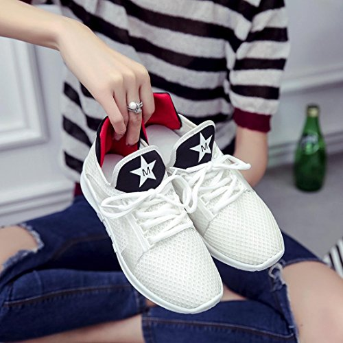 JIANGFU Damenschuhe,Art- und Weisefrauen-Riemen-Sport-laufende Turnschuhe Tarnungs-Schuhe Wh