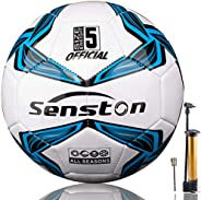 Senston X Crossing Soccer Ball Official Size 5 with Pump - Official Match Football Adults and Junior Kids Socc