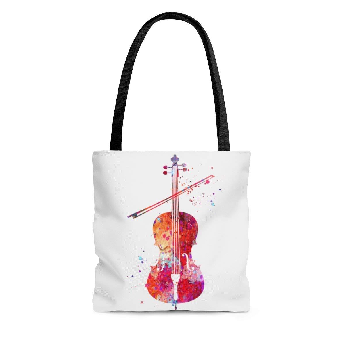 Amazon.com: Watercolor Cello Tote Bag, Books Bag, Beach Bag ...