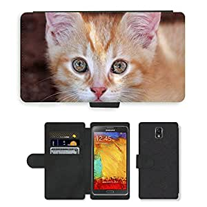 PU LEATHER case coque housse smartphone Flip bag Cover protection // M00114701 Ojos de gato Hangover Gatito Ojos Cat'S // Samsung Galaxy Note 3 III N9000 N9002 N9005