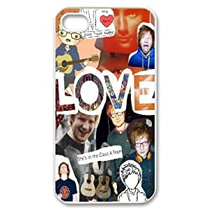 Yearinspace Ed Sheeran LOVE Cases For IPhone 4/4s Men, Iphone 4s Cases For Girls Cheap For Guys Design With White