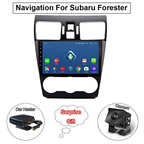 9 Inch Touch Display Android 8.1 Car Radio GPS Navigation, for Subaru Forester 2012-2018 Support Screen Mirror/WiFi/Bluetooth/Steering Wheel Control(Contain Camera/Car Heater) (Best Truck Sat Nav App)