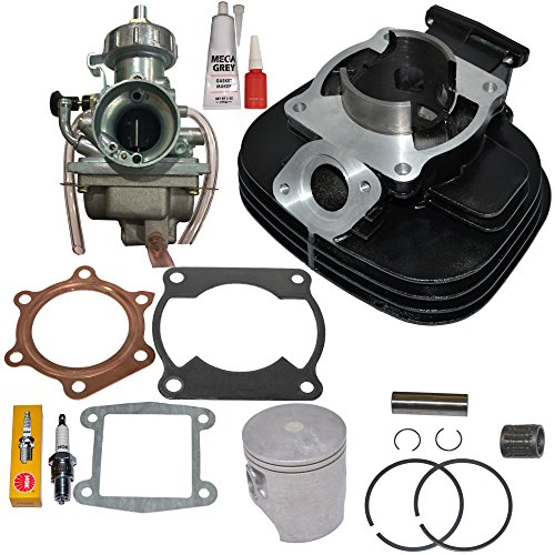 (NEW! CYLINDER CARBURETOR PISTON GASKET FITS YAMAHA BLASTER 200 YFS200 TOP END KIT SET)