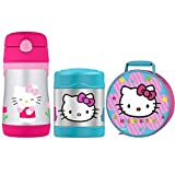 THERMOS Hello Kitty Lunch Kit w/10 oz Straw Bottle and 10 oz Food Jar