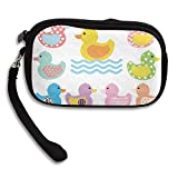 Colorful Duck Swim Deluxe Printing Small Purse Portable Receiving Bag