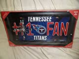 GTEI Sport Fans License Plate Quarts Wall Clock Tennessee Titans