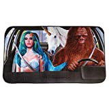 """WHAT ON EARTH Mythical Creatures Car Sun Shade - Funny Mermaid, Bigfoot and Unicorn Windshield Cover Cools Vehicle Interior - 51"""" x 27.56"""": more info"""