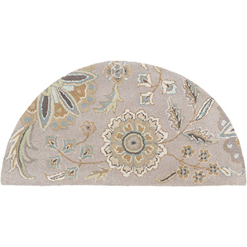 Surya Athena ATH-5127 Hand Tufted Wool Hearth Floral and Paisley Accent Rug, 2-Feet by 4-Feet