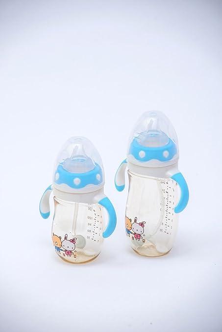 NP Ppsu Botella de Calibre Ancho de la Botella de Succión Automática Mango Bebé Seguro Botella