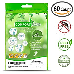 Comfort Road - Koala Mosquito Repellent Patch 60 Count Keeps Insects and Bugs Far Away, Simply Apply to Skin and Clothes , Adult, Kid-Friendly , Convenient For Travel, Outdoor and Camping
