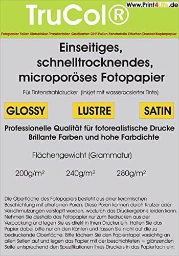 100 Blatt QuickDry Premium GLOSSY Fotopapier 280g /m² für Tintenstrahldrucker DIN A4 9600dpi. Schnelltrocknendes, microporöses Fotopapier. Welches unter anderem durch einen großen deutschen Discounter vertrieben wird.