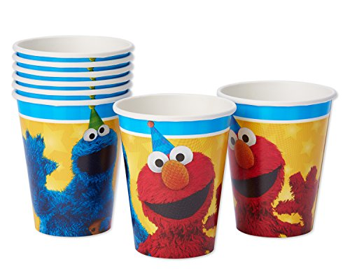 American Greetings Sesame Street 9 oz Paper Cups (8 Count)