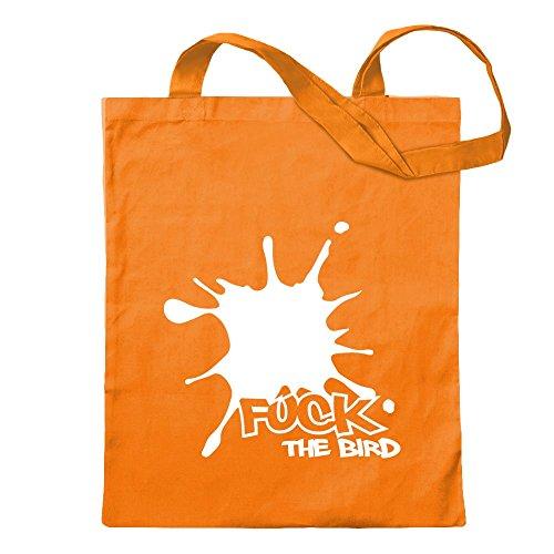 KIWISTAR - Fuck the bird Jute bag in 12 different colors - printed Proverbs Sayings motifs Cotton bag Print school fitness shopping bag hanging on long handle - Wellington Shops Bag