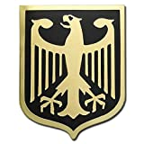 VEGASBEE Germany Eagle Coat of ARMS German Crest Gold Plated Premium Lapel PIN Gift Box Pouch Deutschland BUNDESADLER