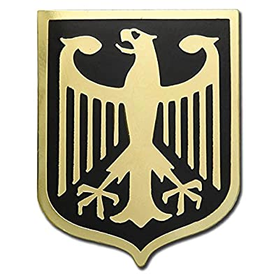Amazon.com: GERMANY EAGLE COAT OF ARMS GERMAN CREST GOLD PLATED ...