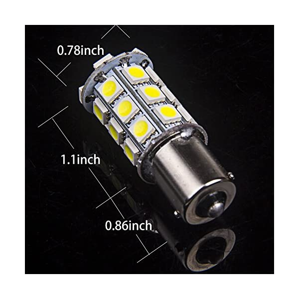 Super White BA15S 1156 27 SMD 5050 LED 1141 1003 Interior Light Bulbs Turn Signal Backup Reverse