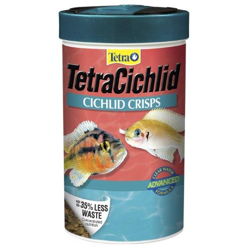 Tetra TetraCichlid Crisps with Feeding Lid, 3.28-Ounce