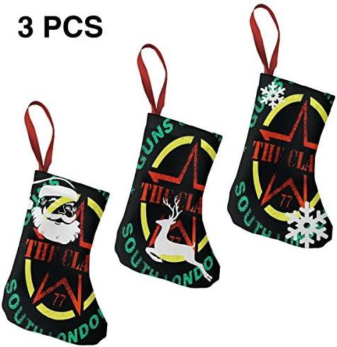 クリスマスの日の靴下 (ソックス3個)クリスマスデコレーションソックス Clash The Guns クリスマス、ハロウィン 家庭用、ショッピングモール用、お祝いの雰囲気を加える 人気を高める、販売、プロモーション、年次式