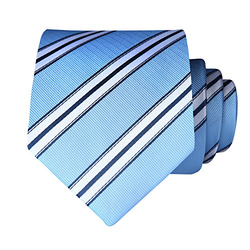 Square Handkerchief Woven Blue Pocket Classic Tie Jacquard Men's Set Men's Necktie White BIYINI Striped amp; tqpxfPw