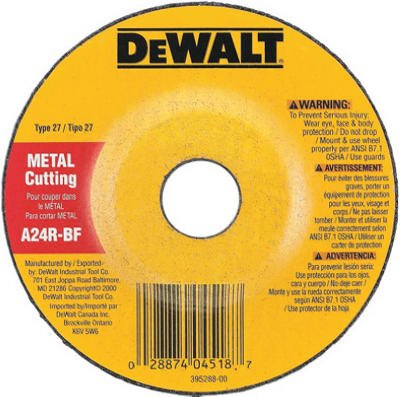 Dewalt Grinding Wheel Depressed Center, Metal Cutting 1/8 '' Thck, 7/8 '' Arbor by DEWALT