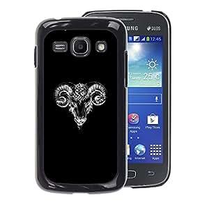 A-type Arte & diseño plástico duro Fundas Cover Cubre Hard Case Cover para Samsung Galaxy Ace 3 (Goat Black White Minimalist Art Sketch)