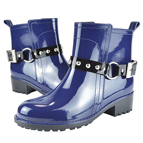 de para Impermeables mujer Botas Azul Cortas Lluvia Agua Paragon Goma Botas x87OpYxqw