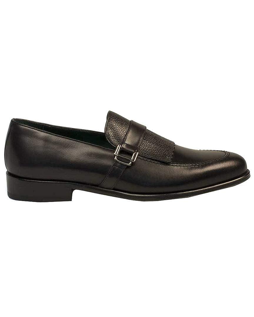 Mezlan Octavio Kilted Loafer 11 Black