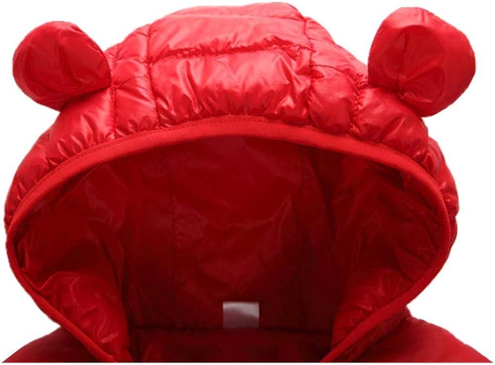 Toddler Baby Boys Girls Down Jacket Coat Kid Winter Warm Hooded Outerwear 9M-5T