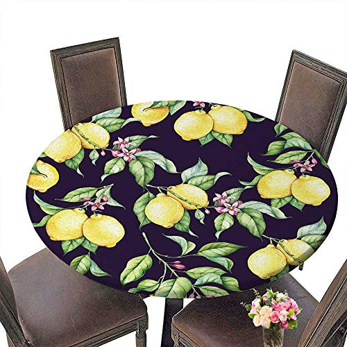 PINAFORE Modern Table Cloth Close up of Lemons from a Tree in a Lemon Grove Indoor or Outdoor Parties 59