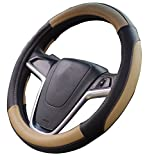 lexus steering wheel - Mayco Bell Car Steering Wheel Cover 15 inch No Smell Comfort Durability Safety (Black Beige)