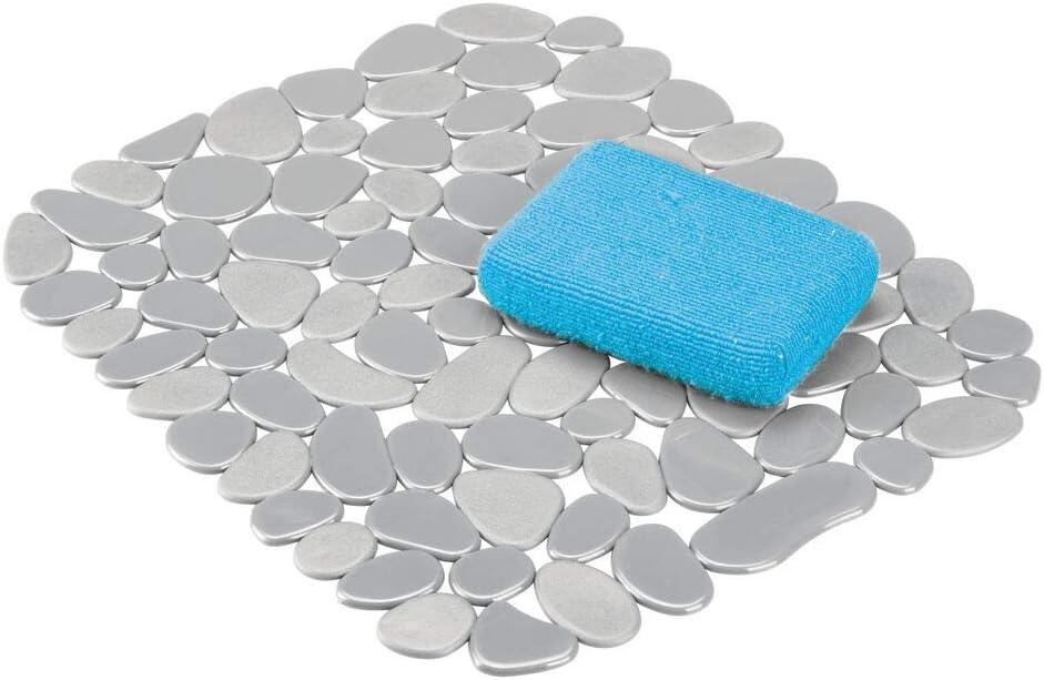 mDesign 2er-Set Sp/ülbeckenmatte auch als Abtropfmatte nutzbar bernsteinfarben zuschneidbare Schutzmatte gegen Kratzer im Sp/ülbecken