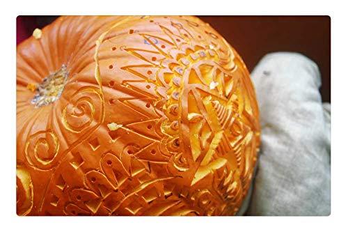 Tree26 Indoor Floor Rug/Mat (23.6 x 15.7 Inch) - Pumpkin Pumpkin Carving Art -