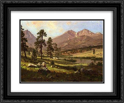 Albert Bierstadt 2X Matted 24x20 Black Ornate Framed Art Print 'Long's Peak, Estes Park, ()