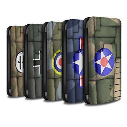 Stuff4 Coque/Etui/Housse Cuir PU Case/Cover pour Apple iPhone 6S / Pack 6pcs Design / Aile Avion de Chasse Collection