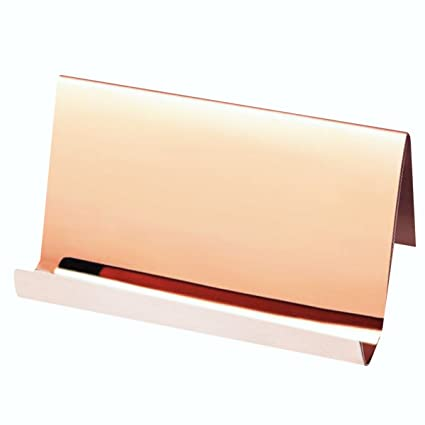 Amazon rose gold stainless steel business card holder desktop rose gold stainless steel business card holder desktop cards display elegant professional business card rack organizer colourmoves