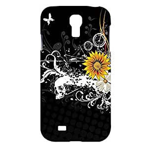Black Sunflower Ink Snap on Plastic Case Cover Compatible with Samsung Galaxy S4 GS4
