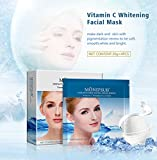 MOND'SUB Vitamin C Instant Cool Whitening & Brightening Facial Mask Sheets(Pack of 4 x 30g)